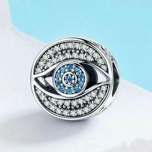 Evil Eye European Charm Fit Pandora Bracelet